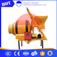 Long Working Life ISO9001 China JZM500(20-22m3/h) 500L Concrete Mixer With Hoist From Professional Manufacturer