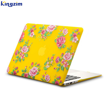 "shenzhen factory customization rose pattern laptop case cover shell for macbook air 13.3"" A1369 A1466"