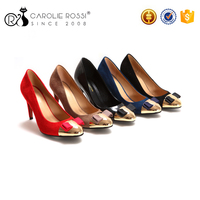 Italian latest new design new models wholesale china fancy nice suede office fashion high heel lady shoes 2016