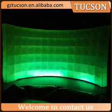 led light customized inflatable partition wall for sale