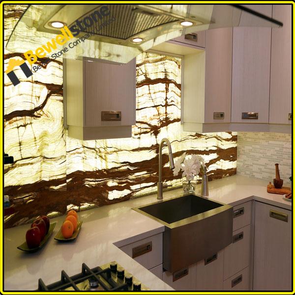 China leverancier van backlit onyx glas fineer voor for Installatiekosten badkamer