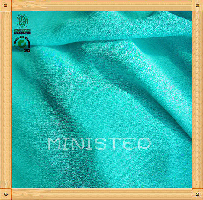 beaded chiffon fabric/high twist/75D polyester chiffon fabric
