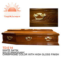TD-E14 Funeral supplier wholesale cheap wood coffin handle