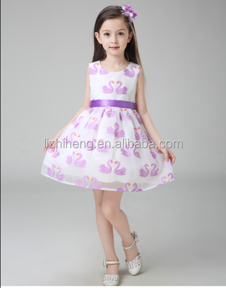 Lizhiheng 4 -14 Years Girl Party Dress European root yarn Flower Girl Dresses Big Size Kids Evening Gowns Wholesale