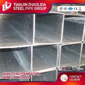 GI Steel Tube / Pre galvanized Square Steel Pipe / Galvanised Fence Tubing