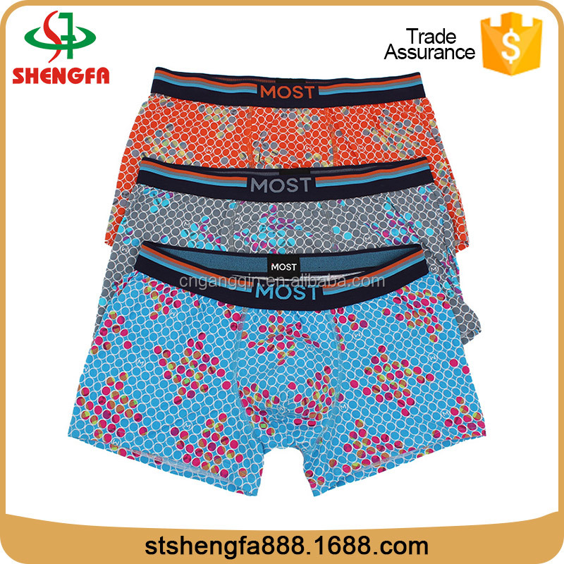 All over printing mens cotton boxers print underwear cheap boxer shorts