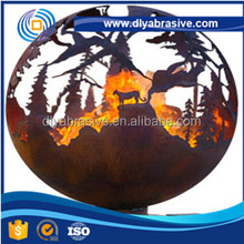 Outdoor Fire Pit 36 Inch Hollow Metal Hemisphere