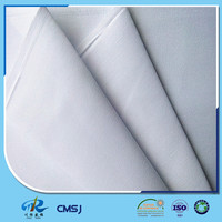 Wholesale polyester cotton twill bleached white fabric in bulk stock