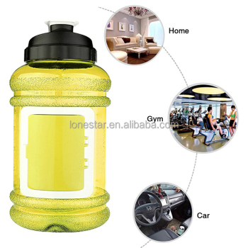 Amazon top selling Best colorful plastic 2200ml wide mouth water bottle with lid in UK