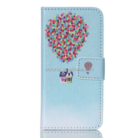 PU Leather Case For iPod Touch 5, High Quality Fire Balloon Leather Flip Case