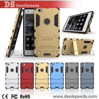 3 in 1 Detachable PC+ TPU Hybrid Hard Case for Huawei P8 Lite with Kickstand - Silver