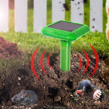 VENSMILE Solar Powered Mole Repeller Gopher Repellent Voles/Mice/Rats/Rodent for Garden Yard Law