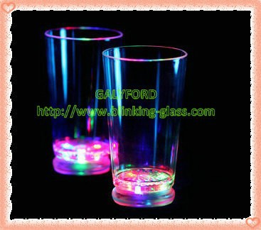 plastic led light up FLASH JUICE /WINE GLASS