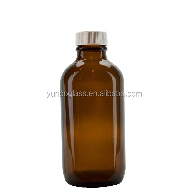 Wholesale Amber Medicine Bottles 4oz Amber Glass Maple Syrup Bottle for Pharmaceutical Medcine Use