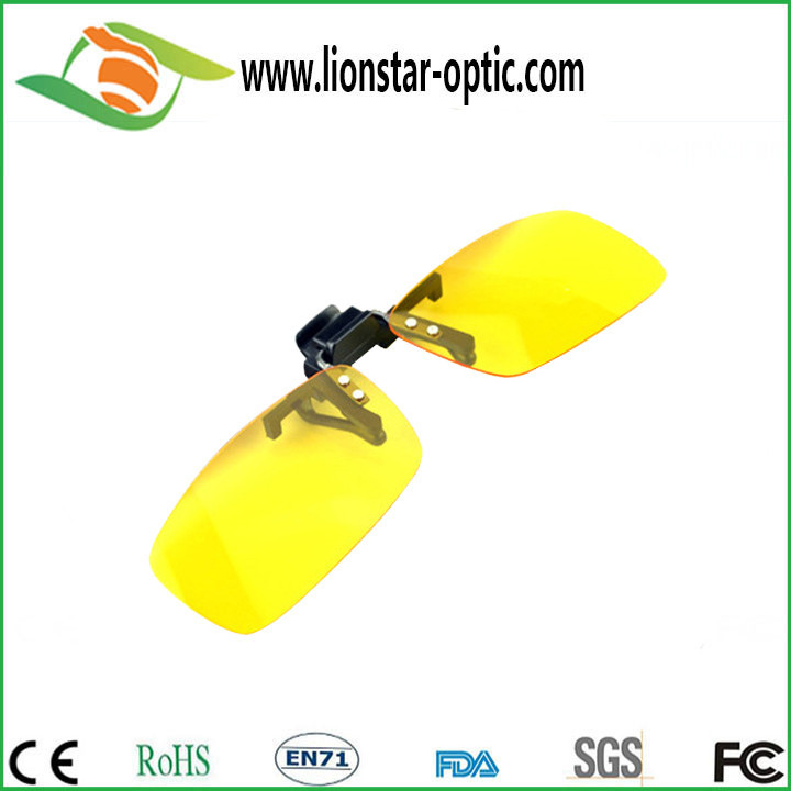 Yellow clip on sunglasses made in china wholesale sunglasses