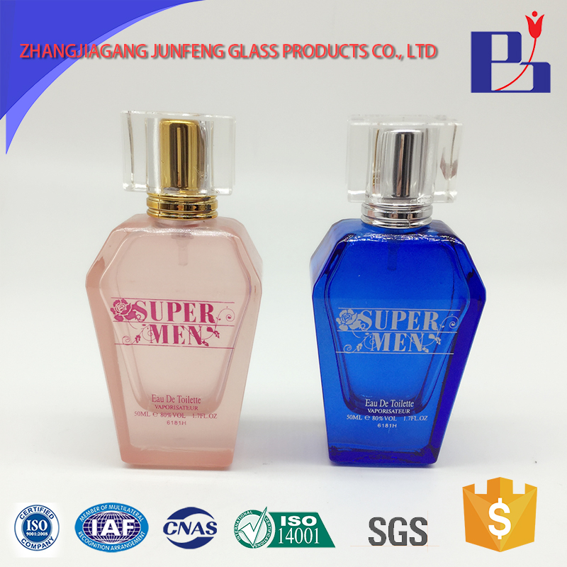 Junfeng 50ml new product decorative empty perfume bottles