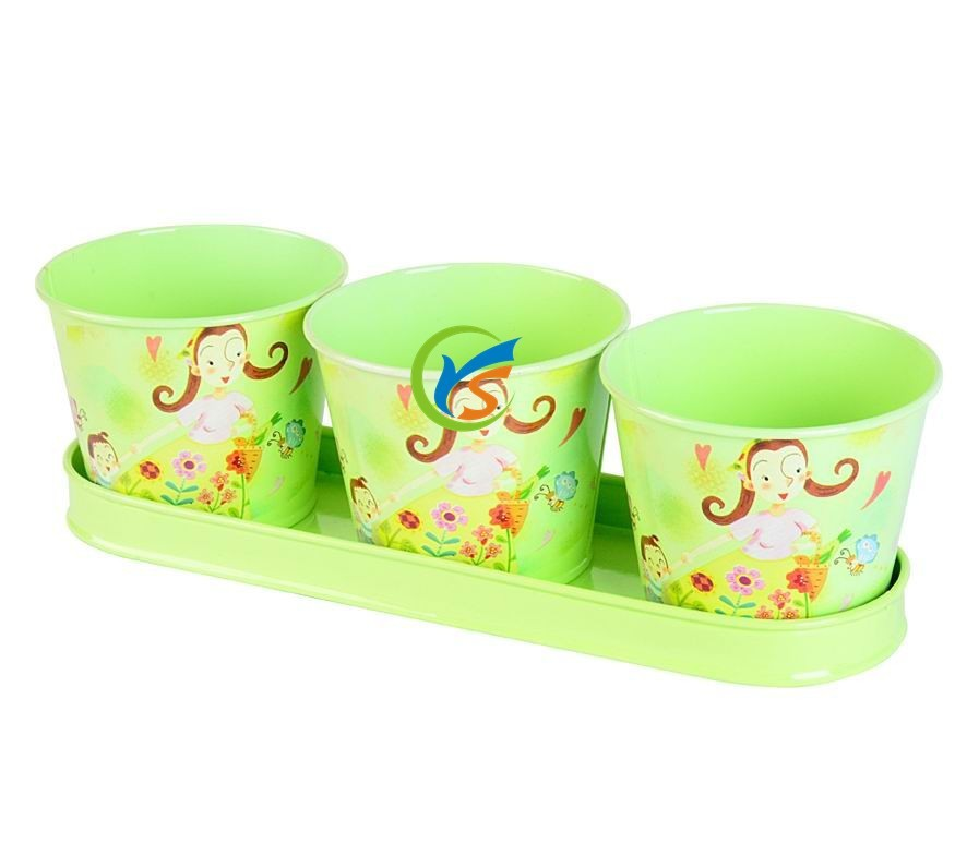 High quality cartoon plant nursery pots of garden tools with tray