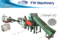 high quality waste film recycled machine pp pe film recycling line waste plastic film washing equipment