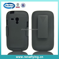 Black Shell Case mobile accessories belt Clip cell phone case for Samsung Galaxy s3mini