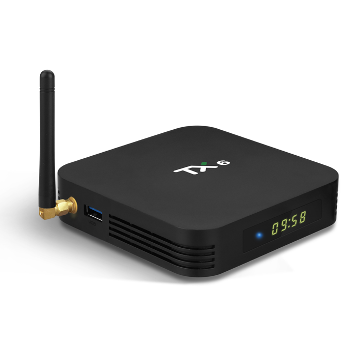 Factory price TX6 4gb ram dual wifi internet android satellite <strong>software</strong> update set top tv box with USB 3.0