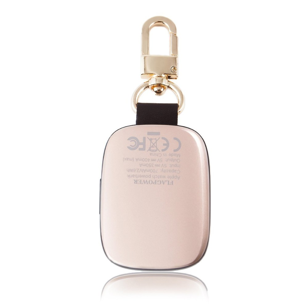 shenzhen trade electronics Key chain design wireless charging 700mAh power bank for apple
