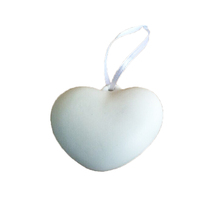 Wholesale Ceramic Heart Shaped Blank Christmas Ornament
