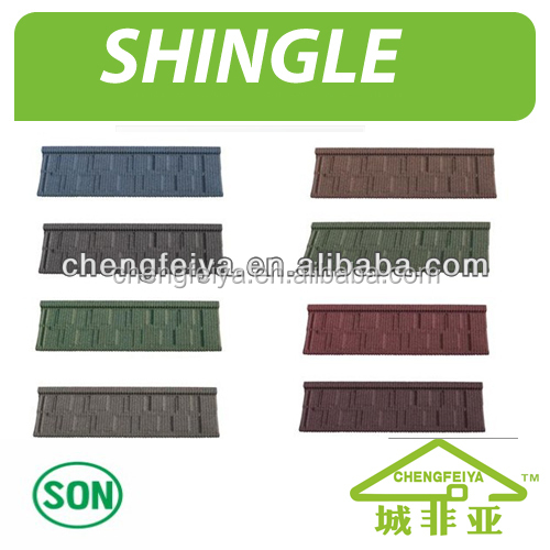 Low roofing shingle price/Stone coated roof tile
