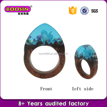 Manufacturer custom petrified wood rings, flowers rings snow lotus rings