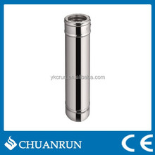 Straight Stainless steel Double wall Pipe for pellet stoves