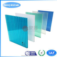 Yellow roof and glazing ten years warranty polycarbonate hollow sheet cheap price