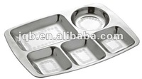 5 Compartments Stainless steel platter