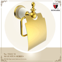 New design PVD gold tissue holder bathroom accessories dubai