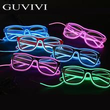 GUVIVI colourful Party LED glasses ,Flashing Chrismas Party Glasses,Party Flashing Led sound activated Light Sunglasses