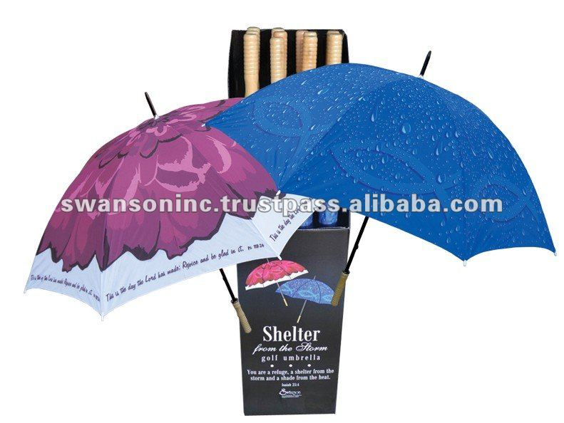 Pre-packed Golf Polyester Designed Umbrella