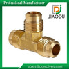 High quality and loew price Zhejiang manufacture forged yellow brass color metric male brass tube fitting for water