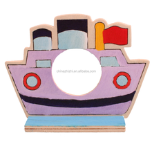 DIY Painting Wooden ship toys educational kits for kids