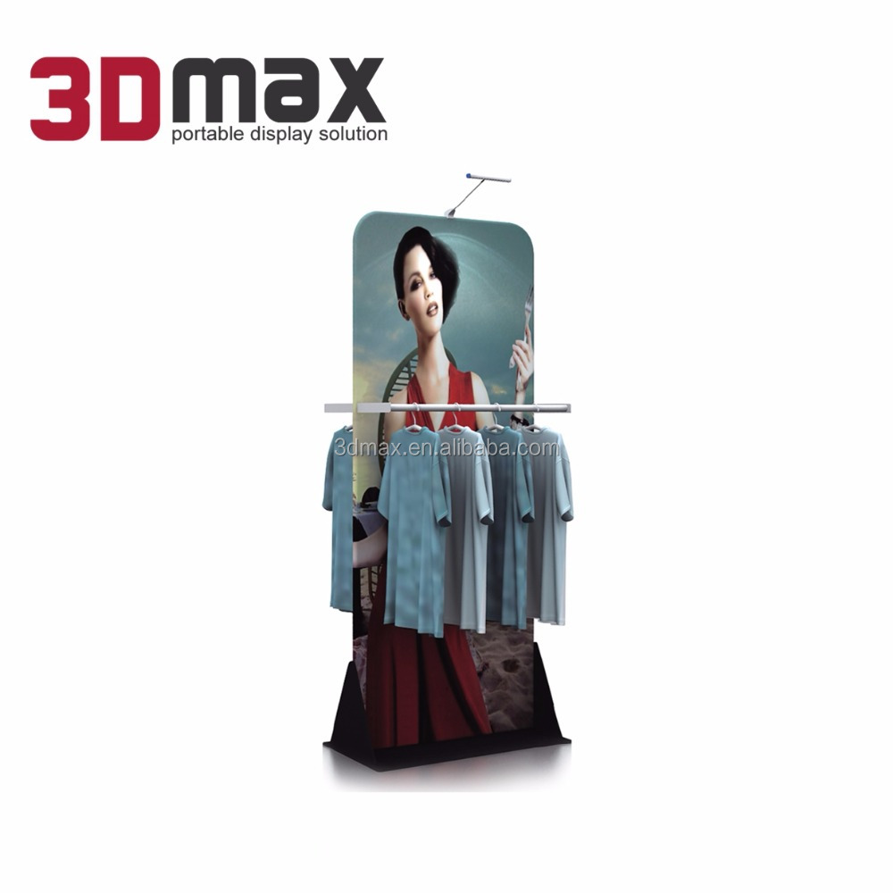 3D MAX cloth exhibition trade show hanging product rack display