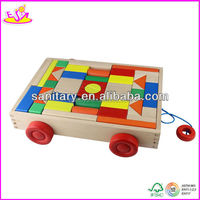 2015 popular Wooden building block set with best price W13C014
