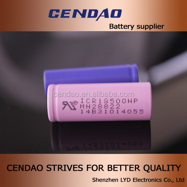 Cendao high energy battery 18500 1600mah 1700mah 3.7V li-ion battery cell 18350/18500/18650 mod