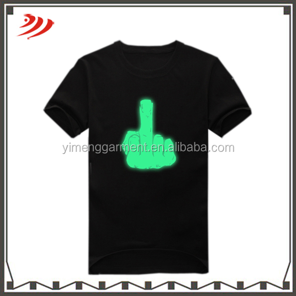 Chinese wholesale custom led t-shirt with wholesales price