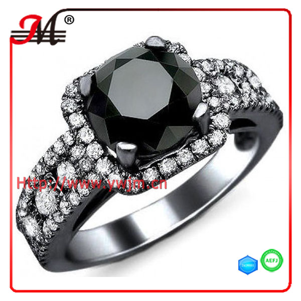 R7817 Jingmei fashion gemstone ring black new gold ring models for men diamond drill bit engagement ring