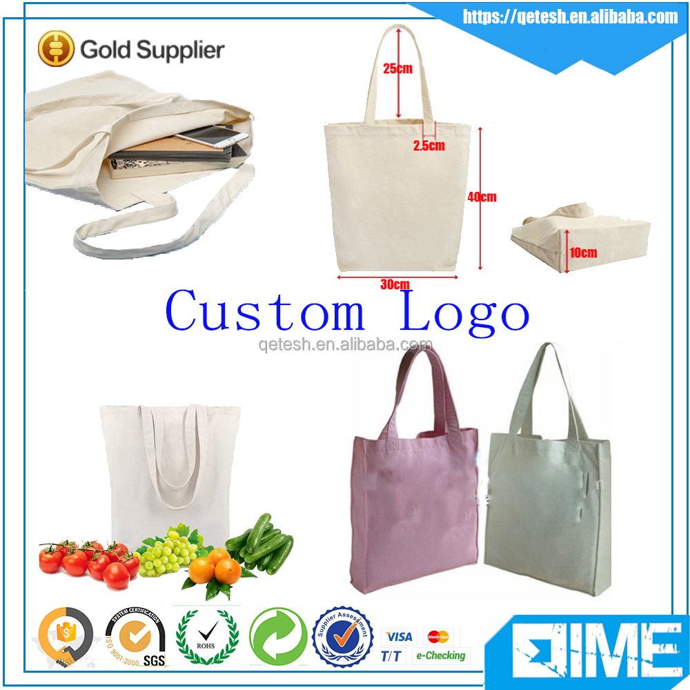 Customize Recycle Blank Canvas Wholesale Cotton Tote Bag