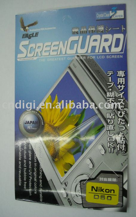 TOP Quality Anti-Glare LCD Camera Screen Protector For NIKON D50