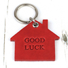 Good Luck New Home Leather Keyring