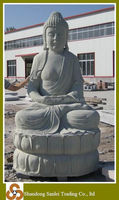 Natural stone carving buddha statue of protection for sale