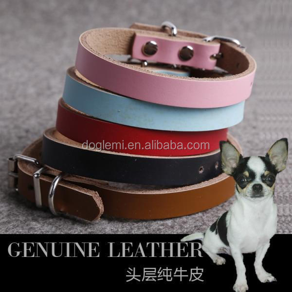 Fashion Designer Dog Collars Sexi Dog Genuine Leather Dog Collar for Sale
