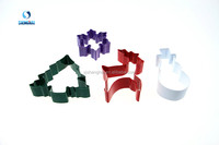 Colorful Stainless Steel Christmas Cookie Cutter Set