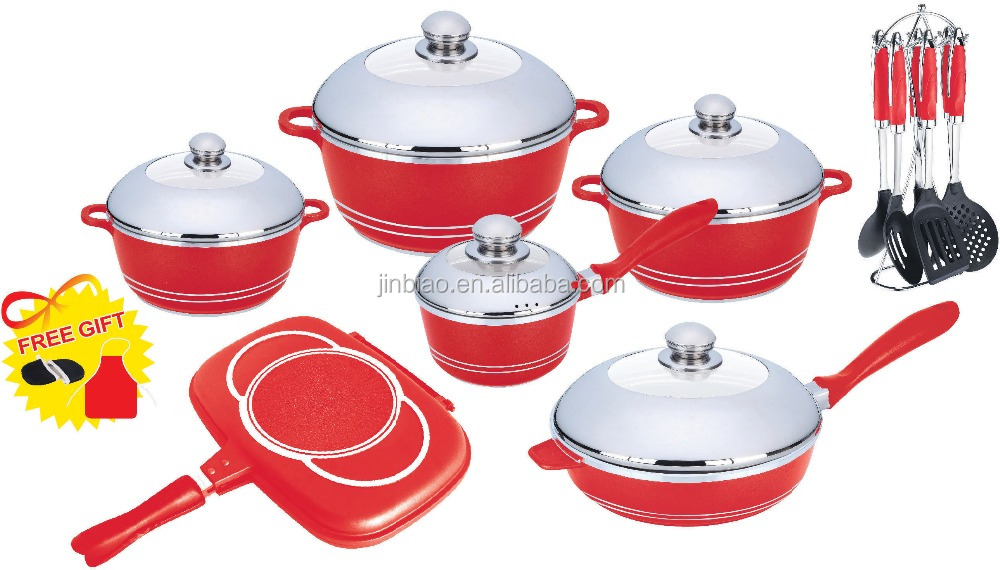 19pcs cookware set with kitchen tools