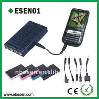 solar mobile charger with flashlight