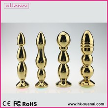 Large Gold Stainless Steel Metal Diamonds Anal Sex Toys Products Butt Plug For men Adult Butt Beads